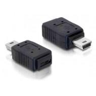 DELOCK Átalakító USB mini male to USB micro-A+B female
