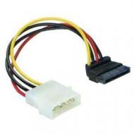 DELOCK Cable Power SATA HDD  4pin male  hajlított (derékszögben)