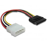 DELOCK Cable Power SATA HDD  4pin male  straight