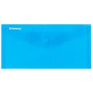 Irattartó tasak, 220x110x0,18, DL, PP, patentos, DONAU, kék