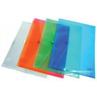 Irattartó tasak, 240x180x0,18, A5, PP, patentos, DONAU, kék