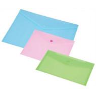 Irattartó tasak, A4, PP, patentos, PANTA PLAST, pasztell rózsaszín