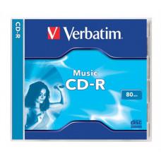 "CD-R lemez, 700MB, 80min, 16x, normál tok, VERBATIM ""Live it!"""