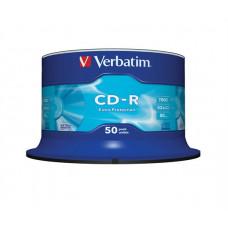 """CD-R lemez, 700MB, 52x, hengeren, VERBATIM """"DataLife"""" CDV7052B50DL"""