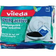 """Mosogatószivacs, 2 db,  VILEDA """"Pure Active"""""""