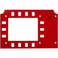 EVKT plexi bordó Infravörös fényszűrő lemez EVKT-100 központok optikai billentyűzetéhez.