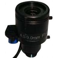FEIHUA FH-0409BMD-IR 4-9mm, 72°-54°, F/1.2, 1/3 col, DC vezérelt írisz, Megapixel, IR szűrő, M12x0.5.