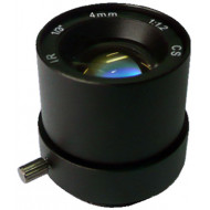 FEIHUA FH-0412F-MP 4mm, 62°, F/1.2, 1/3 col, fix írisz, CS, 1.3 Megapixel, IR szűrő.
