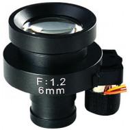 FEIHUA FH-0612BD 6mm, 44,3°, F/1.2, 1/3 col, DC vezérelt írisz, M12x0.5.