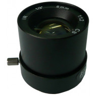 FEIHUA FH-0612F-IR 6mm, 44°, F/1.2, 1/3 col, fix írisz, CS, IR szűrő.