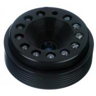 FEIHUA FH-0618IR 6mm, 42°, F/1.8, 1/3 col, fix írisz, CS, 12db IR LED(15m), 12VDC.