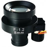 FEIHUA FH-0812BD 8mm, 34,12°, F/1.2, 1/3 col, DC vezérelt írisz, M12x0.5.