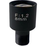 FEIHUA FH-0812BF 8mm, 34,30°, F/1.2, 1/3 col, fix írisz, M12x0.5.