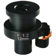 FEIHUA FH-1212BD 12mm, 22°, F/1.2, 1/3 col, DC vezérelt írisz, M12x0.5.