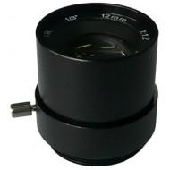 FEIHUA FH-1212F-IR 12mm, 22°, F/1.2, 1/3 col, fix írisz, CS, IR szűrő.