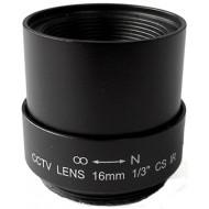 FEIHUA FH-1618F-IR 16mm, 22°, F/1.8, 1/3 col, fix írisz, CS, IR szűrő.