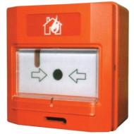 Global Fire GFE MCPC Global Fire Equipment hagyományos kézi jelzésadó, védő üveggel.