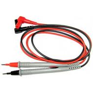 HOLDPEAK Kétszínű mérőzsinór Mérőzsinór pár digitális multiméterekhez, piros/fekete, 100cm.