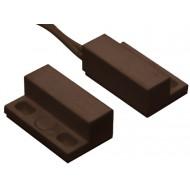 HTN PS-905 MW barna Felcsavarozható, ragasztható, mini, rögzítőfüles, műanyagházas, vezetékkel, NC, barna.