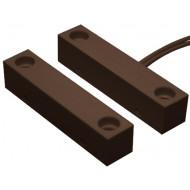 HTN PS-910 M barna Felcsavarozható, műanyagházas, vezetékkel, NC kontaktus, barna.