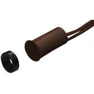 HTN PS-915 MW RM barna Befúrható, rövid, 9 mm-es, vezetékkel, NC kontaktus, alátétszerű mágnessel.