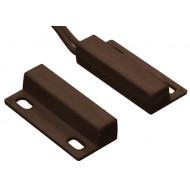 HTN PS-935 M barna Felcsavarozható, mini, rögzítőfüles, műanyagházas, vezetékkel, NC kontaktus, barna.