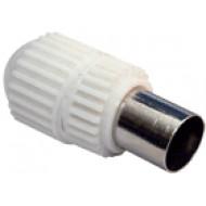 KOAX dugó egyenes, műanyag házas KOAX dugó egyenes, RG-58, RG-6 kábelekhez, műanyagházas.