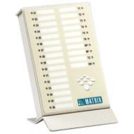 MATRIX VisionUltra RSD Fővonali és mellékállomás állapotát kijelző LED konzol,névcímke, VISIONULTRA központokhoz.