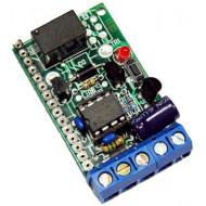 NOLOGO R1A 1 csatornás vevő, nagyfrekvenciás modul nélkül, NO relékimenet, 12-24VAC/DC.