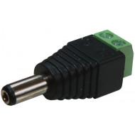 Sorkapcsos tápdugó (fix) PR-C08 Tápcsatlakozó dugó sorkapcsos csatlakozással, stabil csatlakozás, egyszerű szerelés.