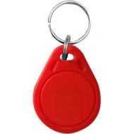 SOYAL AM KeyTag No.3 125 kHz piros Kulcstartós Proximity tag, lapos csepp alakú,  TK4100, 125kHz, piros.