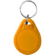 SOYAL AM KeyTag No.3 125 kHz sárga Kulcstartós Proximity tag, lapos csepp alakú,  TK4100, 125kHz, sárga.