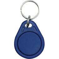 SOYAL AM KeyTag No.3 13.56 MHz kék Kulcstartós Proximity tag, lapos csepp alakú, F08, 13.56 MHz kék.