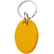 SOYAL AM KeyTag No.5 125 kHz sárga Kulcstartós Proximity tag, ovális alakú,  TK4100, 125kHz, sárga.