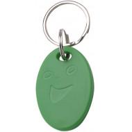 SOYAL AM KeyTag No.5 13.56 MHz zöld Kulcstartós Proximity tag, ovális alakú, F08, 13.56 MHz zöld.