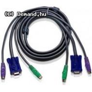 Kab CPU Switch KVM 2m HD15p-15p+2xPS2 2L-1001P/C