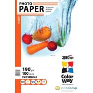 ColorWay Fotópapír tintasugaras nyomtatóhoz Matte 190g/m 10x15 cm 100 sheet.