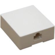 8P8C (RJ45) telefonos aljzat, falon kívüli, felcsavarozható, ragasztható.