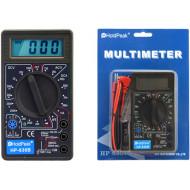 Digitális multiméter, VDC, VAC, ADC, ellenállás mérés, dióda, tranzisztor hFE.