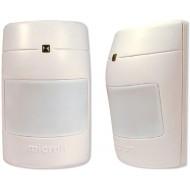 Passzív, dual element, kisállatvédelem 25 kg, 120°, 18m, NC kontaktus, 9-16 VDC.