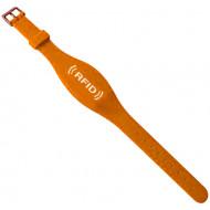 Proximity szilikon karkötő, ovális, csatos, állítható szíj, vízálló,TK4100,125kHz,narancs.