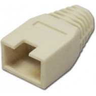 Törésgátló 8P8C UTP és FTP dugaszhoz, kivágott füles, fehér.