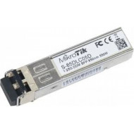 MIKROTIK 1.25G SFP transceiver with a 850nm Dual LC connector, for up to 550 meter Multi Mode fiber connection, with DDM