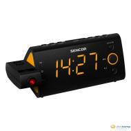 Sencor SRC 330 OR kivetítős ébresztőórás rádió fekete-narancssárga
