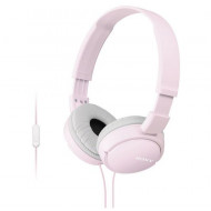SONY Fejhallgató MDR-ZX110APP headset, összehajtható, L alakú aranyozott, sztereó minicsatlakozó, 12-22000 Hz, 1,2m kábelhossz, 30 mm, 24 ohm, 98 dB/mW, Rózsaszín