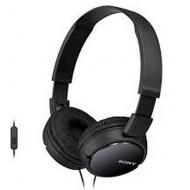 SONY Fejhallgató MDR-ZX110APB headset, összehajtható, L alakú aranyozott, sztereó minicsatlakozó, 12-22000 Hz, 1,2m kábelhossz, 30 mm, 24 ohm, 98 dB/mW, Fekete