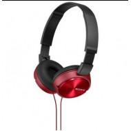 SONY Fejhallgató MDR-ZX310R összehajtható, L alakú aranyozott, sztereó minicsatlakozó, 10-24000 Hz, 1,2m kábelhossz, 30 mm, 24 ohm, 98 dB/mW, Piros