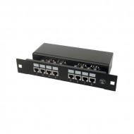 """DIGITUS 8 portos Cat5E 1U, 10"""" Patch panel"""