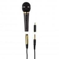 Thomson M151 Dinamikus Karaoke Mikrofon Mikrofon,6,3mm,Kábel:2,5m,500Ohm,80-14000Hz,Mikrofon,Black
