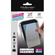 MYSCREEN Képernyővédő fólia törlőkendővel (2 féle típus) CRYSTAL/ANTIREFLEX - (Samsung Galaxy Mega) G37248